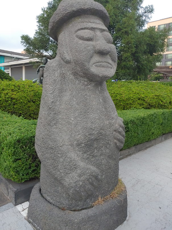 Stone statue of folk story character