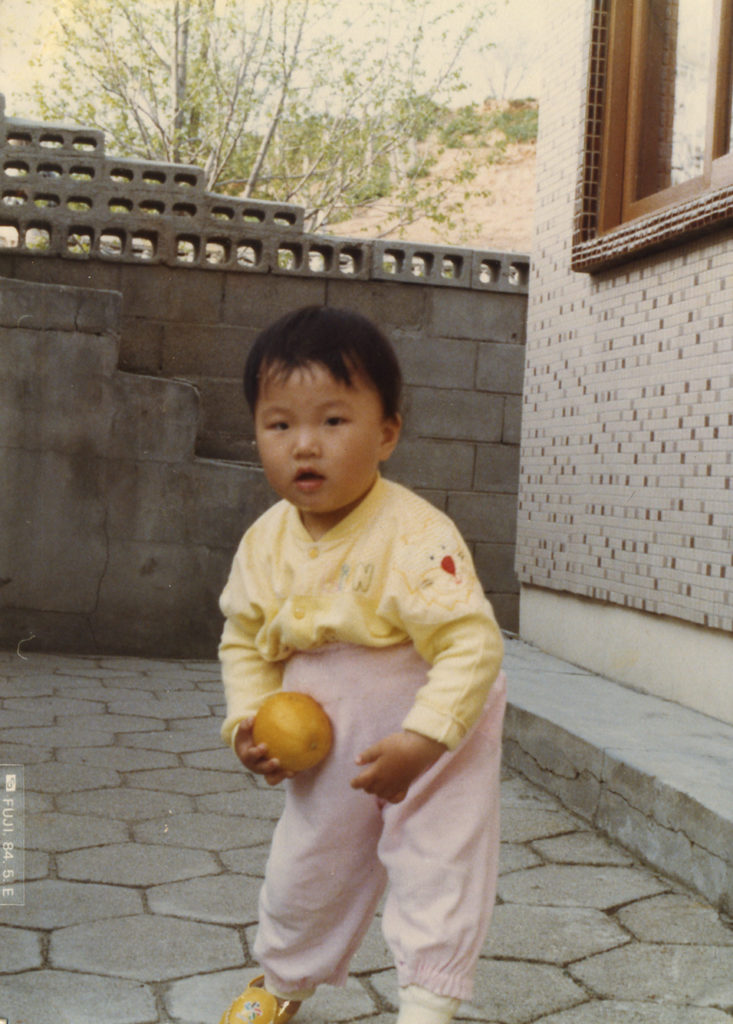 Yoonseon as a child