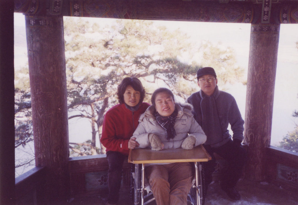 Yoonseon with family